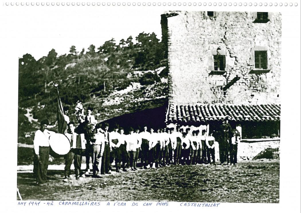 Caramellaires a l'era de Can Pons, 1941-1942.Fons: Arxiu Exposició Matamargó.